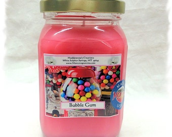 Bubble Gum 12.5 ounce Container Candle