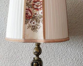 Vintage brass baroque table lamp