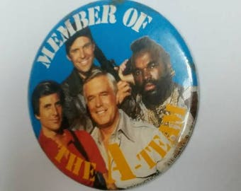 Vintage The A-Team pinback button large
