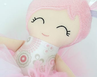 Handmade Fabric Doll - Cloth Doll - Ballerina Doll - Rag Doll - Heirloom Doll - Personalised - Made to Order