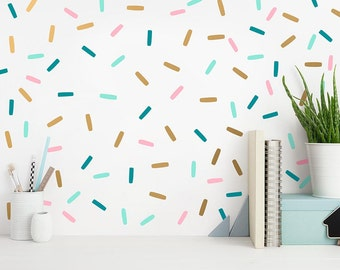 Confetti Wall Decals - Sprinkles Wall Decal Set, Peel and Stick Wall Stickers, Nursery Decals, Modern Wall Decals