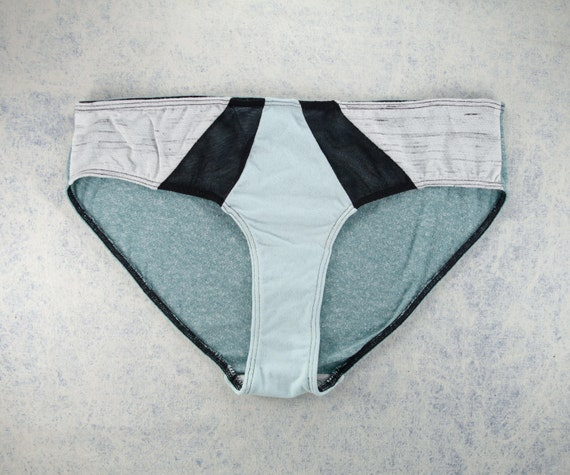 LARGE - ISA Hipster cut , unique, upcycle and handmade panties