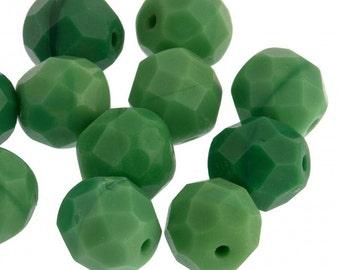 Vintage Prosser Beads Faceted. 8mm. Pkg of 10. b11-gr-0687(e)