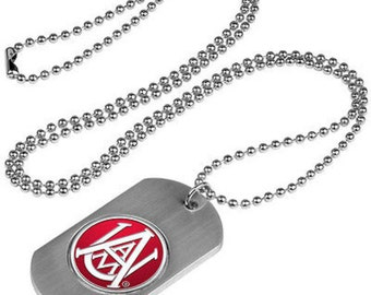 Alabama A&M Bulldogs Stainless Steel Dog Tag Necklace
