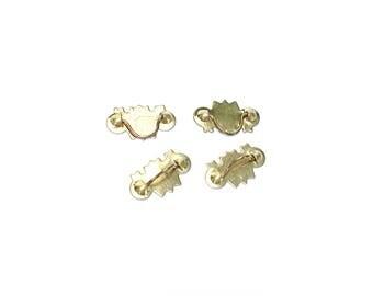 Set of 4 Metal Drawer Pulls, Bin #E-8B