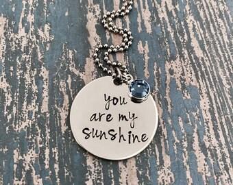 You are my sunshine with Swarovski Crystal Birthstones
