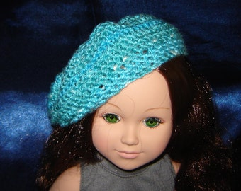 "18"" Doll Beret - For An 18 Inch Doll - Hand Knit Doll Hat - Doll Clothes - Doll Clothing - For an 18"" Doll"