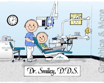 Dentist Personalized Cartoon Male Or Female - Great Gift Idea!