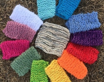 Earth Tones Washcloth Set with Scrubby, Brown and Blue Scrubbies