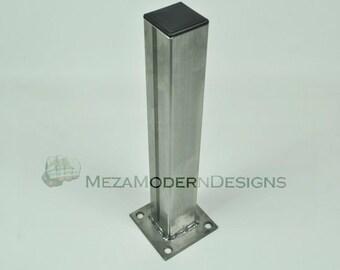 "LIMITED TIME SALE!!! Raw Industrial Metal Leg w/ Plastic Cap 6""-40"""