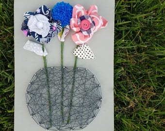 Ready to Ship String Art Flower/Vase Collab Sign