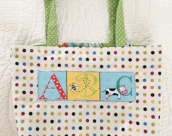Child's Reversible Alphabet Tote Bag