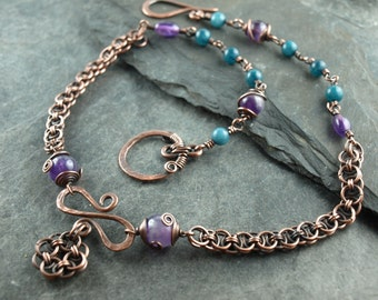chainmaile, copper,chain,necklace