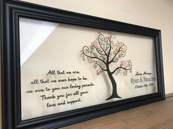 Unique Parent Wedding Gift Ideas: Wedding Gifts For Parents Wedding Gifts Personalized Parents