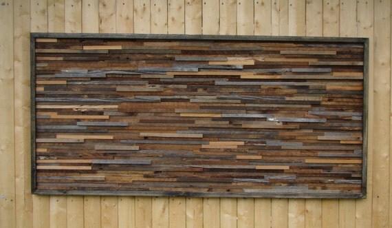 Handmade Rustic Wall Decor : Rustic wall art handmade of reclaimed barn wood