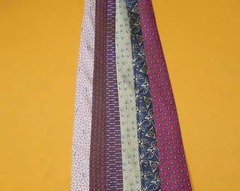 Lot Of 6 Hermes Tie Pure Silk Various Colour & Pattern Vintage Designer Dress Necktie Made In France