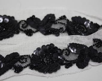 Vintage Beaded & Sequined Trim