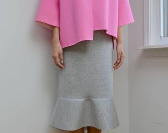 Grey Frilled Skirt