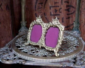 Brass Frame, Gilt Frame, Photo Frame, Italian Photo Frame, Italian Decor, Gold Frame, Small Frame, Oval Frame, Rococo Decor, Rococo Style