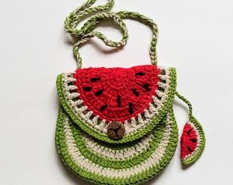 Watermelon Purse Crochet Pattern/ Kid Purse