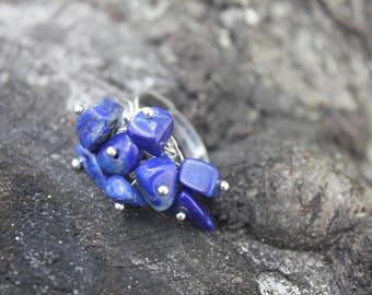 Lapis Lazuli ring boho ring birthstone ring stackable ring stacking ring blue gemstone ring nature ring handmade ring ring gift custom ring