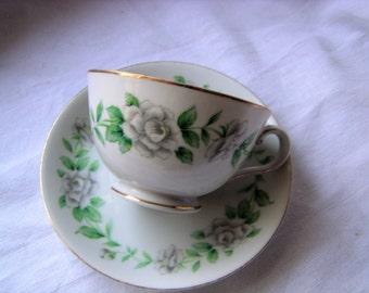 """Regal China (Japan) """"Virgina"""" Tea Cup and Saucer"""