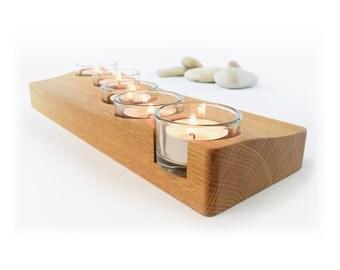 Wooden Candle Holder, Ocean Wave Centrepiece, Contemporary Tea Light  Holder, Housewarming Gift, Nautical Table Decor, Unique Wedding Gift