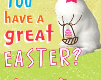 Kids Easter Cards, Easter Card, Easter Bunny, Kids Easter Gift, Printable Card, Happy Easter