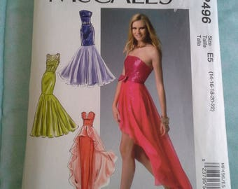 McCall's MP496, MP496, 496, Diy mix and match bodice and skirt, diy hi-low skirt, diy short skirt, diy long skirt, diy belt, uncut pattern