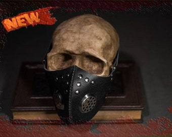NEW Cyber Goth Mask Post Apocalyptic Leather Mask CyberGoth Mask Industrial Mask Punk Halloween Steampunk Burning Face Mask Man Respirator