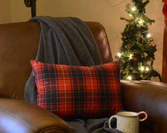 Red and Green Plaid Pillow