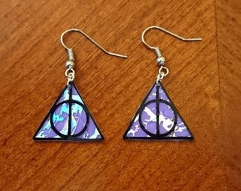 Deathly Hallows Recycled DVD Earrings