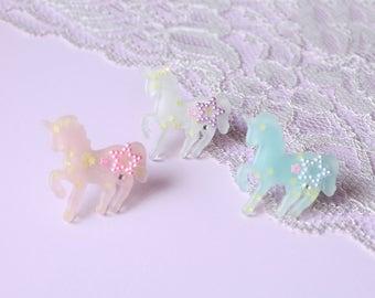 Pastel Unicorn Sweet Lolita Fairy Kei Decora Statement Ring