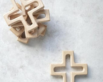 Crosses wooden teether