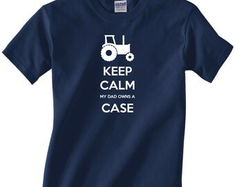 Kids Youth tractor/farming t-shirt - Keep Calm My Dad Owns a Case