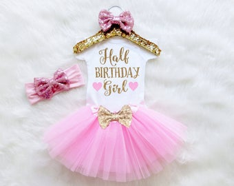 Half Birthday Girl Outfit. Half Birthday Baby Outfit. Half Birthday Shirt. Half Birthday Tutu Outfit. First Birthday Outfit.