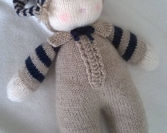 Hand Knitted Baby Dumpling Doll