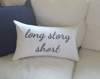 Large Custom Made Personalised Embroidered Cushion Cover + insert - 50cm x 30cm