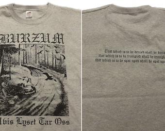 Burzum T-SHIRT Hvis Lyset Tar Oss GREY // S-XXL // Count Grishnackh Varg Vikernes Black Metal