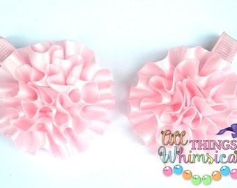 Light Pink Flower Blossom Set of 2 Clips