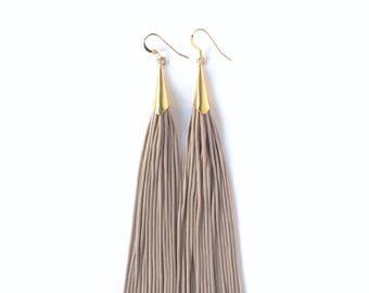 Classic Tassel Earrings - Lavender & Gold