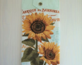 Sunflower Hanging Kitchen Hand Towel with Cotton Top, Sunflower Decor, Summer Decor, Kitchen Decor, Fall Decor, Housewarming Gift