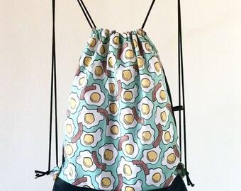 """Backpack Bag """"Breakfast Lover"""""""