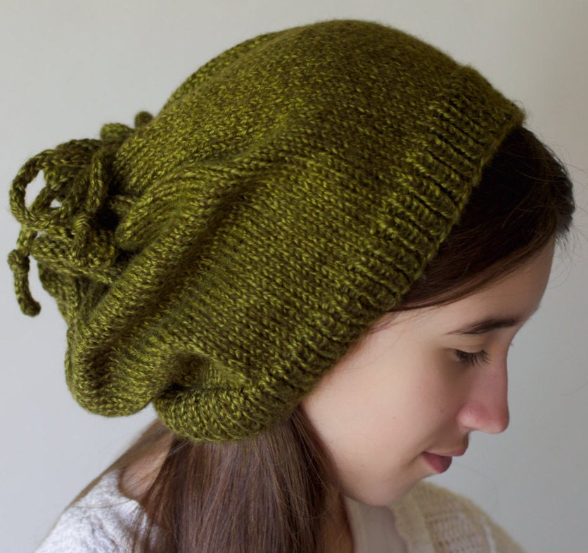 Drawstring Cowl Knitting Pattern : Messy Bun Hat Ponytail Hat Cowl Scarf Drawstring Cowl