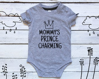 Mommy's Prince Charming, Baby Boy One Piece, Baby Prince, mommy's prince, infant boy shirt, newborn outfit, little prince, prince charming
