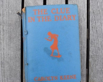 Vintage 1932 The Clue in the Diary by Carolyn Keene First Edition Hardcover Nancy Drew Series Mystery 30s Antique
