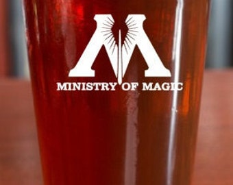 Ministry of Magic Harry Potter Pint Glass
