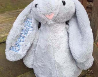 Personalized Easter Bunny, Monogrammed Easter Bunny, Embroidered Easter Bunny, Personalized  Plush Easter Bunny