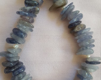 Iolite water Sapphire beads and silver