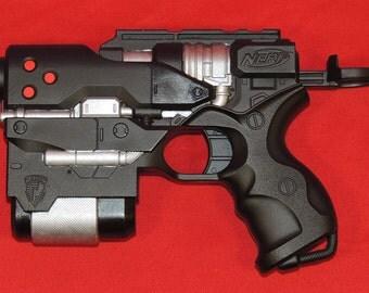 Resident Evil Style Custom Painted Nerf Gun for Costume & Cosplay